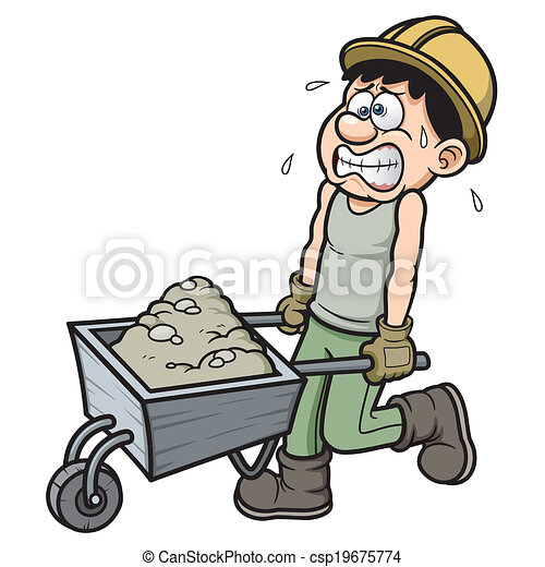 trabalhador, caricatura - csp19675774