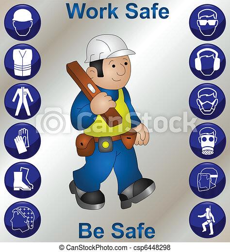 trabalhador construção - csp6448298