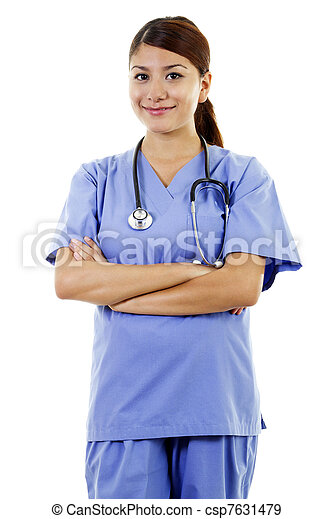 trabalhador, femininas, cuidados de saúde - csp7631479