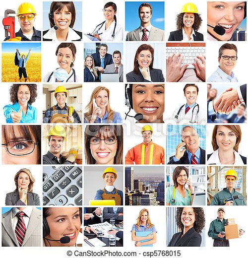 trabalhadores, pessoas - csp5768015