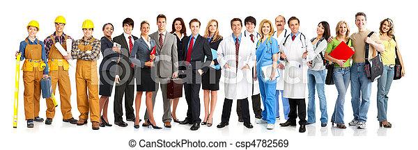 trabalhadores, pessoas - csp4782569