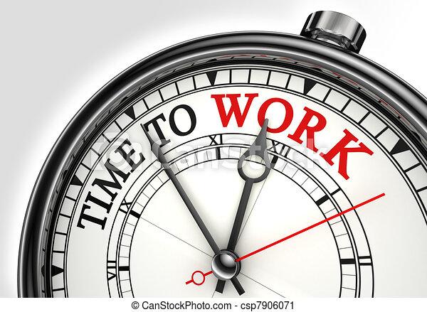 trabalho, conceito, relógio tempo - csp7906071