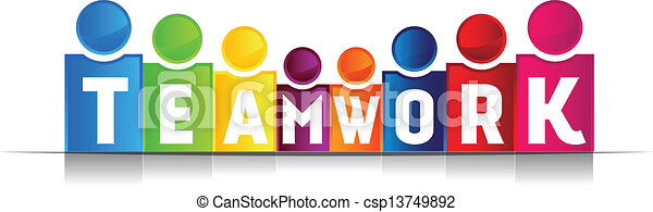 trabalho equipe, conceito, palavra - csp13749892