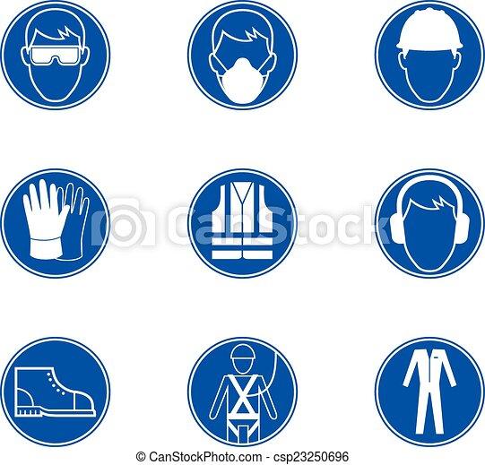 trabalho, segurança, sinais - csp23250696