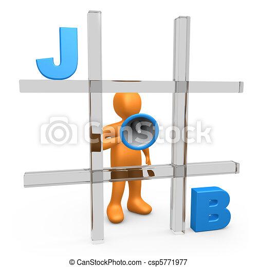 trabalho, tac, tique, dedo pé - csp5771977