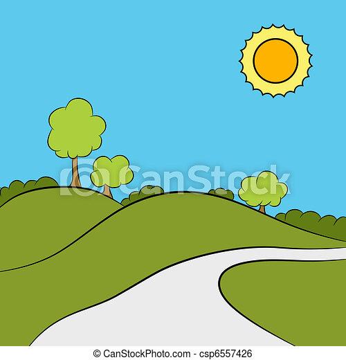 traccia, segno, scia, parco - csp6557426