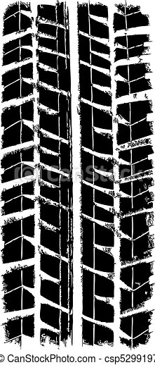 trace of the tyre, vector  - csp5299197