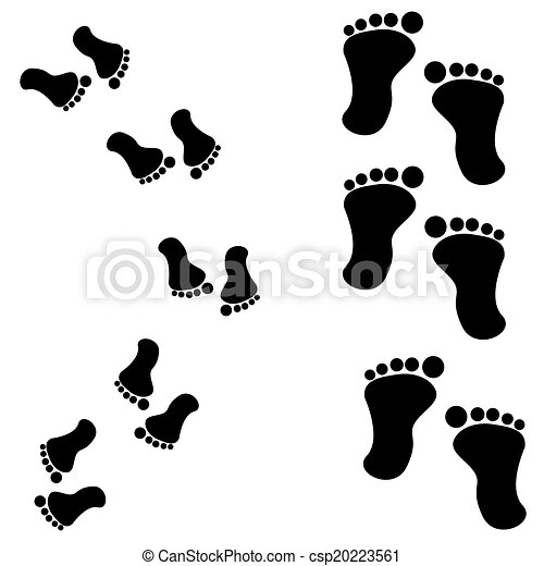 Traces of feet - csp20223561