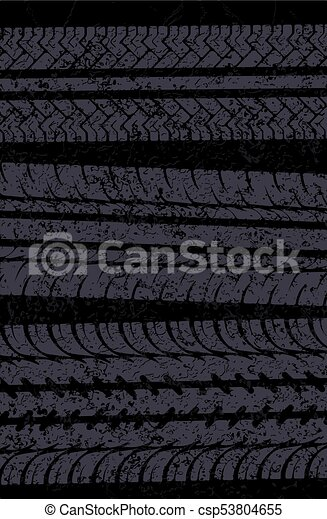 Traces of tires vector background - csp53804655