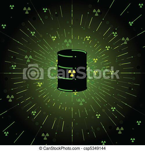 tracić, promieniotwórczy - csp5349144
