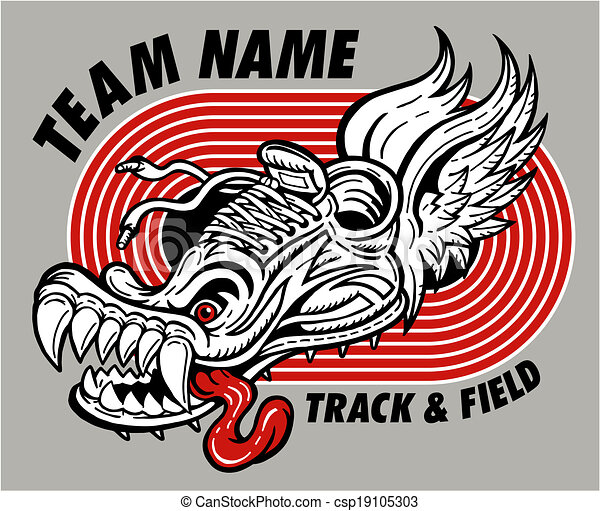 track and field design - csp19105303