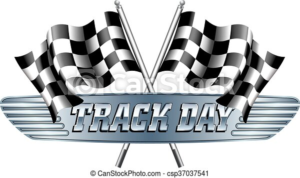 track day checkered chequered flags motor racing