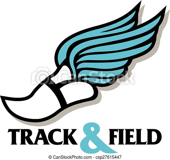 track and field design with winged track foot eps vector search rh canstockphoto com track and field clipart free track and field clipart