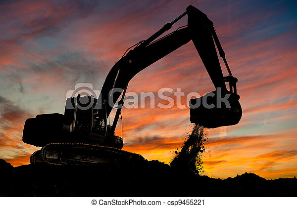 track-type loader excavator at work - csp9455221