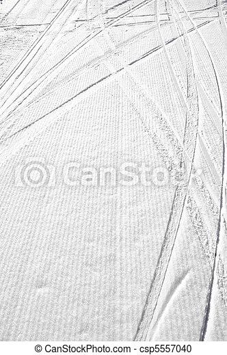 Tracks in snow, background - csp5557040