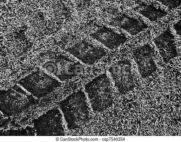 tracks in snow - csp7540354