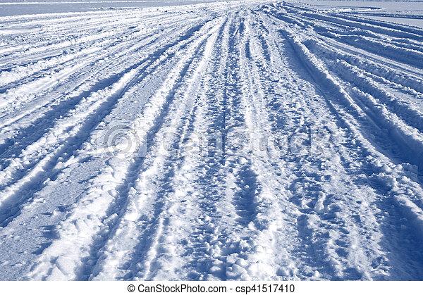 Tracks on snow - csp41517410