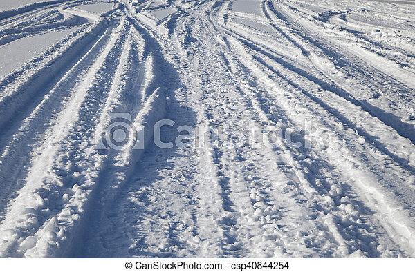 Tracks on snow - csp40844254