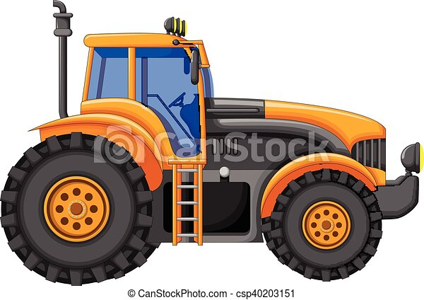 Tracteur jaune dessin anim vecteur tracteur illustration jaune dessin anim - Dessin anime avec tracteur ...