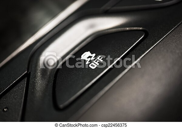 Traction Control Off Button - csp22456375