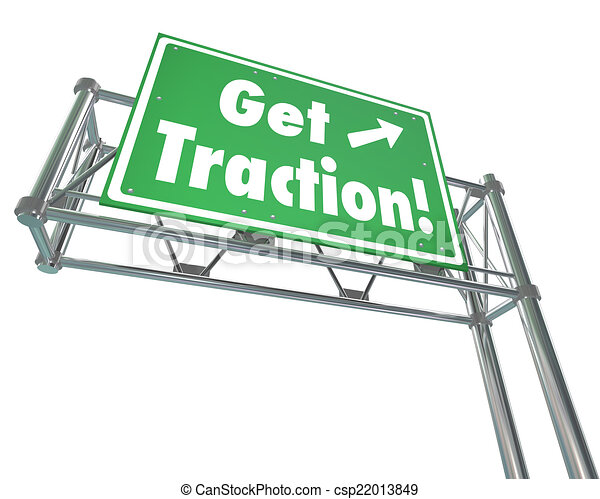 traction, obtenir, faire, m, signe, autoroute, vert, gain, progrès, route, terrestre - csp22013849