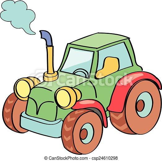Tractor cartoon colored - csp24610298