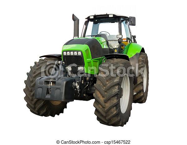 Un tractor de granja verde - csp15467522