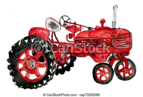 Tractor a mano - csp73292568