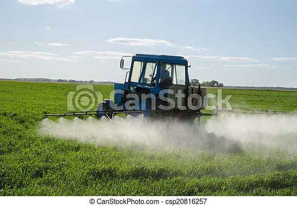 Tractor fertilize field pesticide and insecticide  - csp20816257