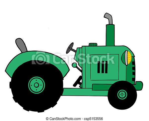 Un tractor de granja verde - csp5153556
