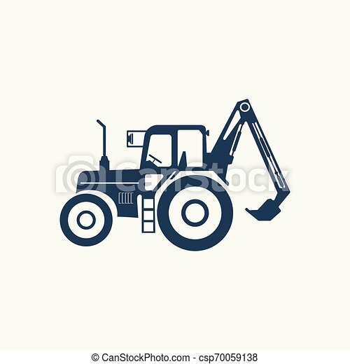 Tractor icon with a higher lift. - csp70059138