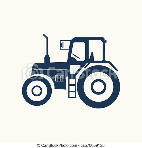 Tractor icon with a vacuum hose. - csp70059135