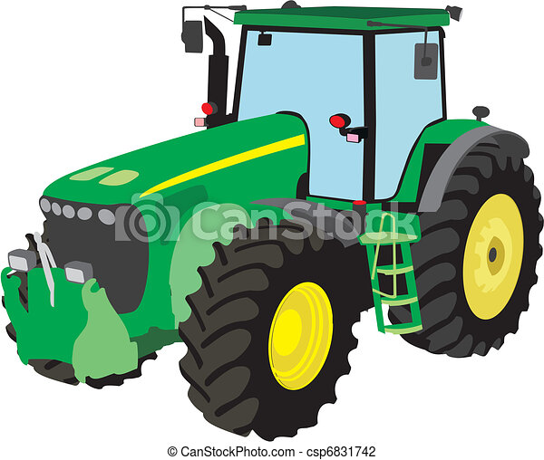 Tractor Illustrations And Clip Art 54 031 Tractor Royalty Free