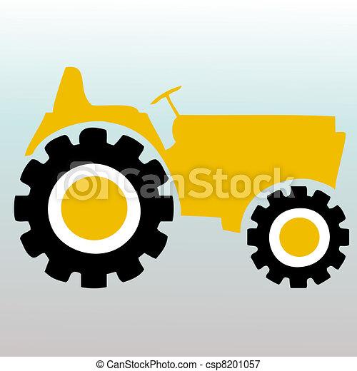Tractor Tire Illustration