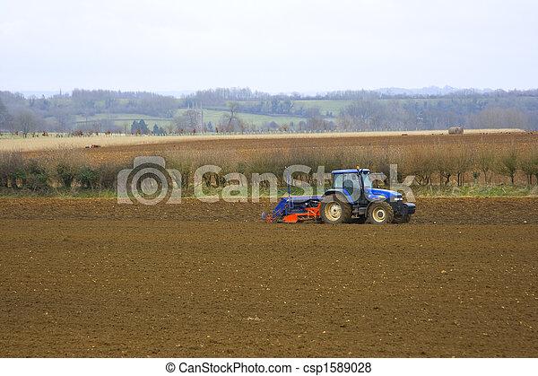 Tractor In fields - csp1589028