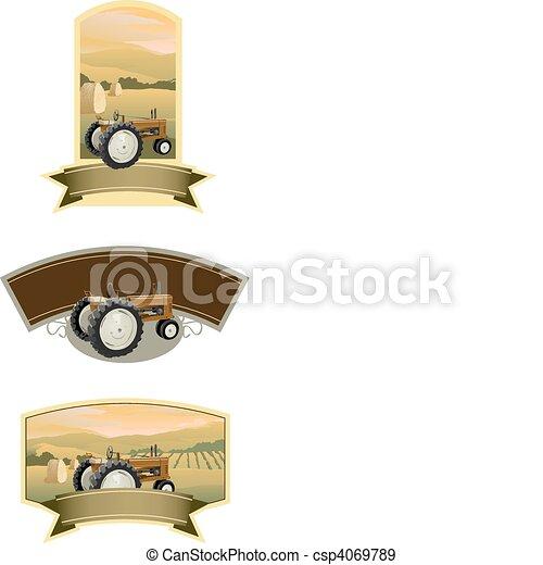 Tractor Labels - csp4069789
