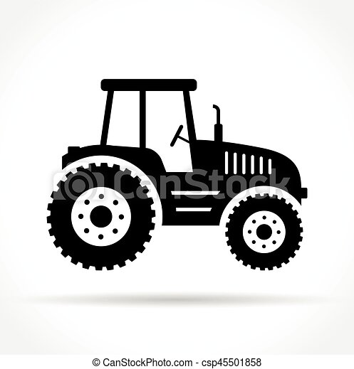 tractor on white background - csp45501858