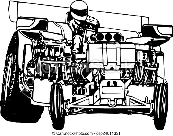 Tractor Pulling Big Horsepower Tractor Pulling Vector