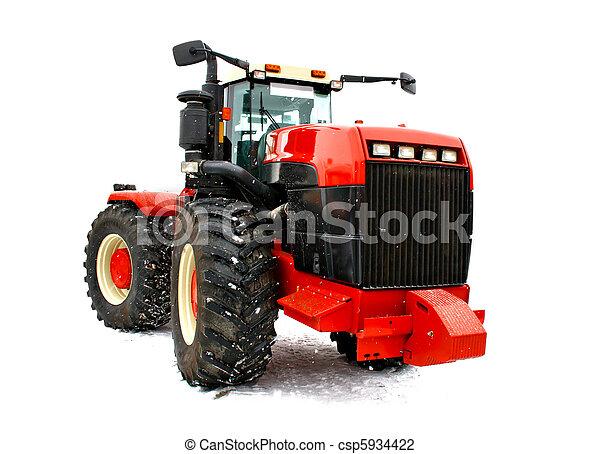 tractor rojo - csp5934422