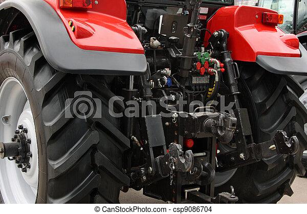 tractor rojo - csp9086704