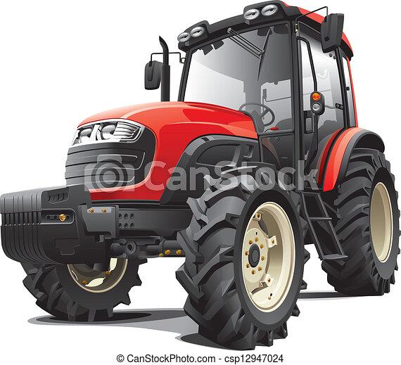 Un tractor rojo - csp12947024