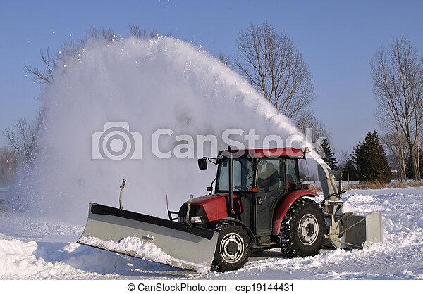 Tractor  snow blower  - csp19144431