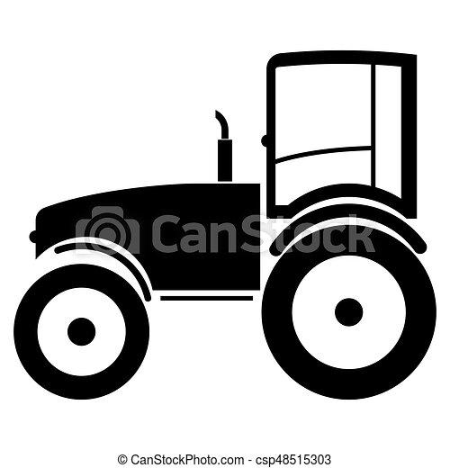 Tractor the black color icon . - csp48515303
