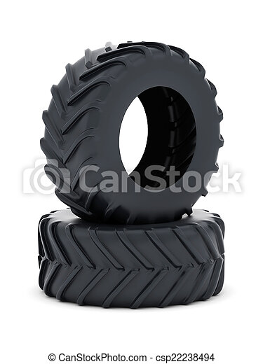 Tractor tires isolated - csp22238494