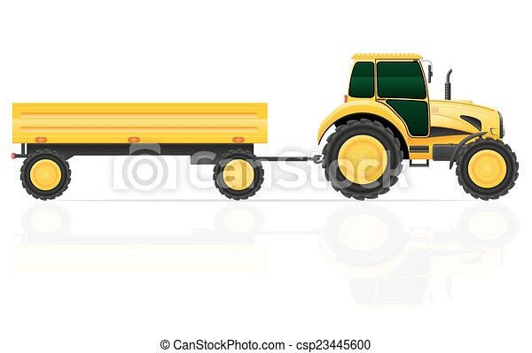 tractor trailer vector illustration isolated on white vector rh canstockphoto com semi trailer clip art semi tractor trailer clip art