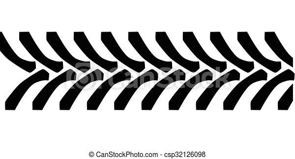 Tractor Tyre Tread Marks - csp32126098