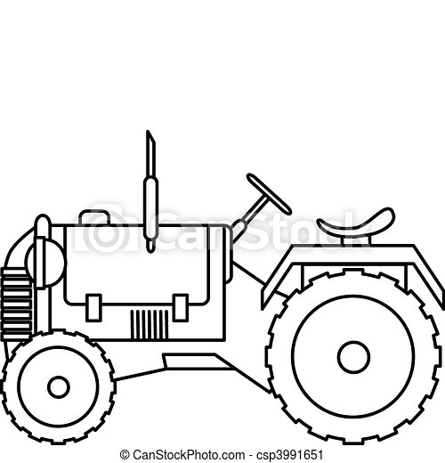 illustration of a tractor vector clip art search illustration rh canstockphoto com plow horse clipart plow horse clipart