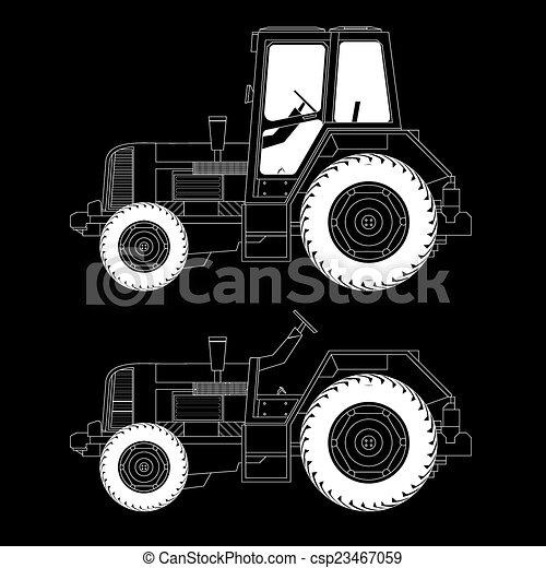 Máquinas agrícolas, tractores - csp23467059