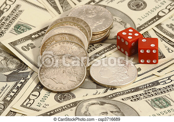trade dollar and dice - csp3716689