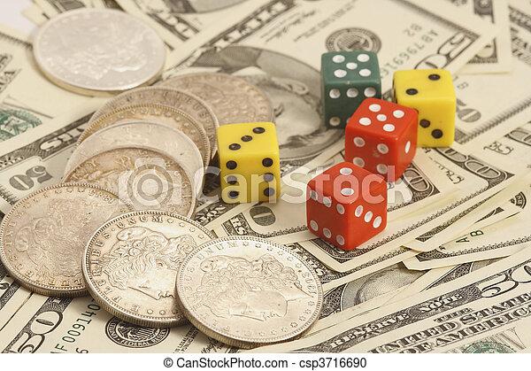 trade dollar and dice - csp3716690